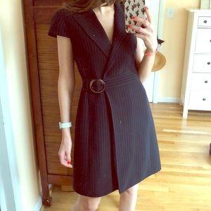TAHARI black post rip suit dress size 6P